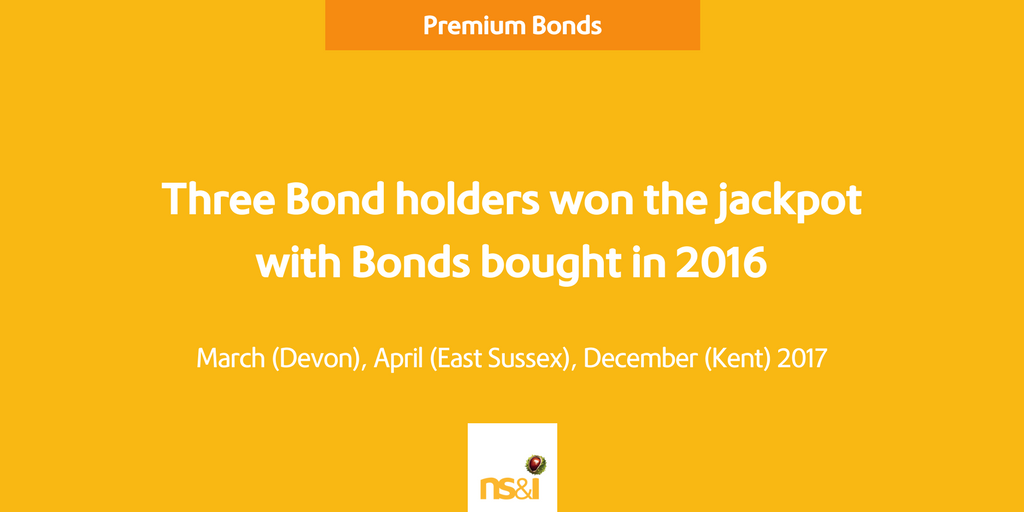 People who won the jackpot in 2017 having invested in Premium Bonds in 2016