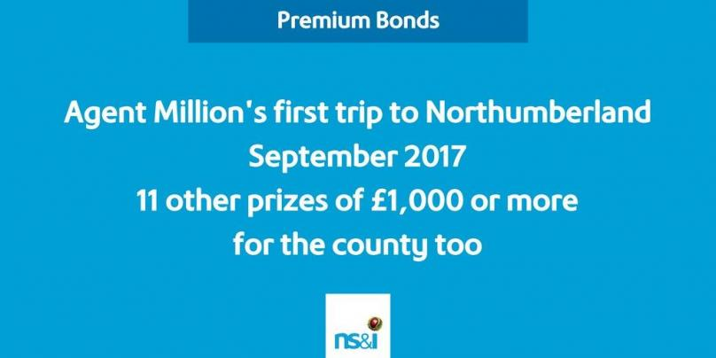 First Premium Bonds jackpot win for Northumberland - September 2017